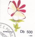 de Africa - Santo Tomé y Principe -  FLOR- borboletas