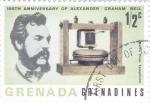 Sellos del Mundo : America : Granada : CENTENARIO DE ALEXANDER GRAHAM BELL