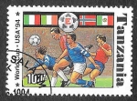 Stamps Tanzania -  1174D - Campeonato del Mundo de Fútbol USA´74