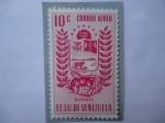 Sellos del Mundo : America : Venezuela : E.E.U.U.U. de Venezuela - Estado Barinas - Escudo de Armas - Ganadería - Agricultura.