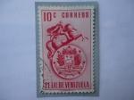 Sellos del Mundo : America : Venezuela : E.E.U.U. de Venezuela - Escudo d Armas de VENEZUELA - Independencia-Federación,1810- Simón Bilívar.