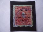 Stamps Venezuela -  E.E.U.U. de Venezuela - Bolívar - Sello sobre estampado, J.R.G. 1946