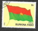sello : Africa : Burkina_Faso : 675 - Bandera