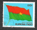 sello : Africa : Burkina_Faso : 678 - Bandera