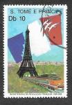 Stamps São Tomé and Príncipe -  854 - Bicentenario de la Revolución Francesa