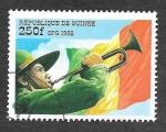 Sellos de Africa - Guinea -  Yt1255CZ - Trompetero