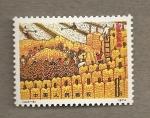 Stamps China -  Cosechando maiz