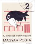 de Europa - Hungría -  10 ANIV. DEL CODIGO POSTAL