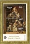 Sellos del Mundo : Europa : España : Pinturas de Velazquez. Infanta Margarita Teresa y  las Meninas. Emision conjunta España Austria.