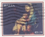 Stamps : Europe : Malta :  LA VIRGEN Y EL NIÑO