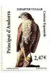 Stamps Europe - Andorra -  Andorra española. Esparver vulgar.