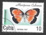Sellos de America - Cuba -  3827 - Mariposa