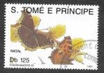 Sellos del Mundo : Africa : Santo_Tomé_y_Principe : 1035 - Mariposa