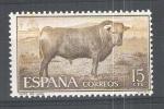 Stamps : Europe : Spain :  1254 Tauromaquia. Toro de lidia