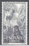 Stamps : Europe : Spain :  1256 Tauromaquia.Encierro.