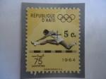 Stamps America - Haiti -  Carrera de Vallas - Juegos Olímpicos - Tokio 1964