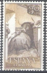 Stamps : Europe : Spain :  1257 Tauromaquia.Salida del toril.