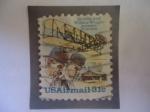 de America - Estados Unidos -  Los hermanos:Ariville Wright (1871-1948) y Wilbur Wright (1867-1912) - Pioneros de la Aviación.
