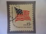 Sellos del Mundo : America : Estados_Unidos :  Fuerte McHenry y la Bandera Nacional de 1795 al 1818 - La Tierra de los libres-Hogar de los Valiente