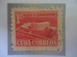 de America - Cuba -  Palacio de Comunicaciones- Tax, impuesto Construcción del Edificio del Ministerio de Correos.