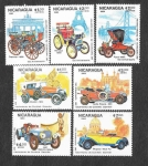 de America - Nicaragua -  1359-1365 - 150º Aniversario del Nacimiento de Gottlieb Daimler