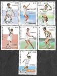 Stamps : America : Nicaragua :  1624 - 1630 - Tenistas CAPEX`87