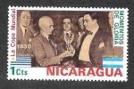 Stamps : America : Nicaragua :  923 - Campeonato del Mundo de Fútbol