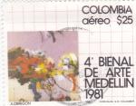 Sellos del Mundo : America : Colombia :  4ª BIENAL ARTE MEDELLIN