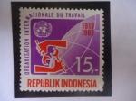 de Asia - Indonesia -  Organización Internacional del Trabajo - 1919-1969 - Emblemas.