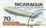 de America - Nicaragua -  75 ANIVERSARO DEL ZEPEPLIN
