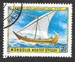 Stamps : Asia : Mongolia :  1186 - Barco