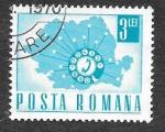 Stamps : Europe : Romania :  1984 - XL Aniversario del Primer Teléfono Automático