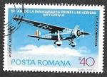 Sellos de Europa - Rumania -  C201 - L Aniversario de las Aerolíneas Rumanas