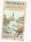 Stamps Nicaragua -  INDEPENDENCIA NORTEAMERICANA 200 ANIVERSARIO