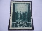 de Europa - Vaticano -  Ciudad del Vaticano - Multitud frente al redentor - Pro-prisioneros.