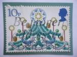 de Europa - Reino Unido -  Navidad 1980 - Árbol de Navidad.