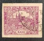 Sellos del Mundo : Europa : Checoslovaquia : Czechoslovakia - Hradcany Castle, 1000 haleru, 1919