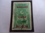 Sellos del Mundo : America : Venezuela : E.E.U.U. de Venezuela - Flota Mercante Gran Colombiana . 5 de Julio de 1947 - Resellado con 0,10 Cén