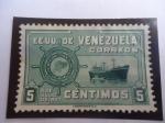 Sellos del Mundo : America : Venezuela : E.E.U.U. de Venezuela - Flota Mercante Gran Colombiana . 5 de Julio de 1947.