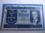 de America - Venezuela -  Colegio de Ingenieros de Venezuela -Primer Centenario (1861-1961)-Juan A.Aguerrevere, Primer Preside