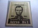 de America - Venezuela -  Presidente Abraham Lincolns - Centenario de su Muerte, 1865-1965