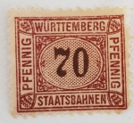 Sellos del Mundo : Europa : Alemania : Württemberg 70 Pfennig