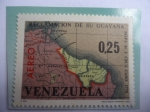 Stamps America - Venezuela -  Reclamación de su Guayana - Mapa de J.Cruz Cano, 1775 - reivindicación Territorial de Guayana Esequi