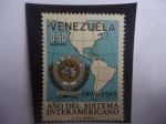 Stamps America - Venezuela -  Año del Sistema Interamericano-75° Aniv.de la Organización de los Estados Americanos,1890-1965.