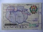 Sellos de America - Venezuela -  Mapa del Estado Guárico