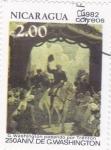 Stamps America - Nicaragua -  250 ANIV.DE G.WASHINGTON