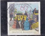 Stamps Europe - Germany -   Escena de la casa de correos, c.1855