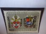 de America - Venezuela -  Concelio Ecunemico, Vatcano 11.11. 1962 -Escudo de Armas de la Ciudad del Vaticano y de Venezuela -