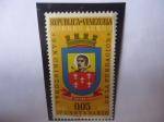 Stamps America - Venezuela -  IV Centenario de la Fundación de San Cristóbal, 1561-1961 - Escudo de Armas de San Cristóbal.