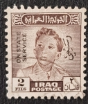 Stamps Iraq -  Iraq O124 King Faisal II overprint